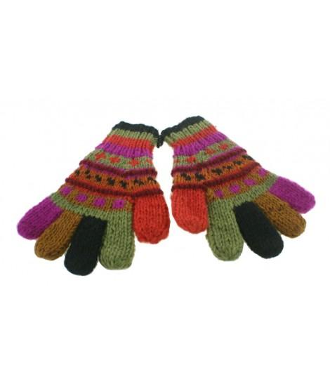Guantes de lana color naranja realizado artesanalmente calientes suaves cómodos para el frio invierno guantes unisex adulto re