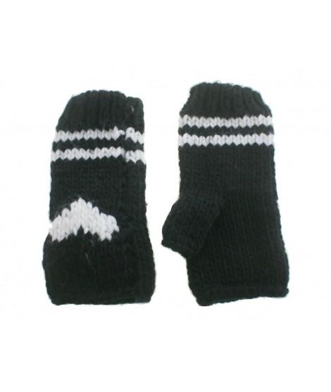Guantes invierno señora color negro dibujo estilo nórdico calientes suaves y cómodos para el frio guantes mitones regalo origina