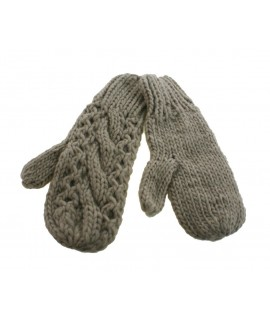 Guantes mitones de invierno calientes suaves de crudo estilo nórdico para regalo mujer. Talla única adulto.