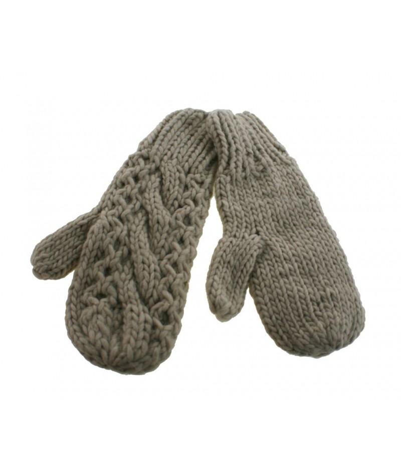 Guantes mitones de invierno para señora color crudo estilo nórdico calientes suaves para invierno regalo original