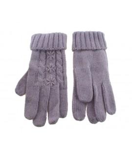 Gants de mitaines d'hiver pour dame couleur lilas style nordique chaud doux pour cadeau original d'hiver
