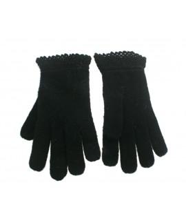 Mitaines d'hiver gants pour dame couleur noire style classique chaud doux pour cadeau original d'hiver