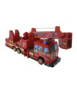Camión  bomberos de madera