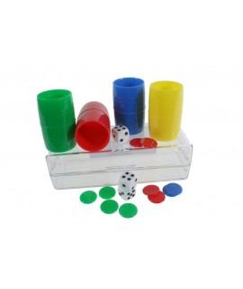 Accesorios de parchís para 4 jugadores.