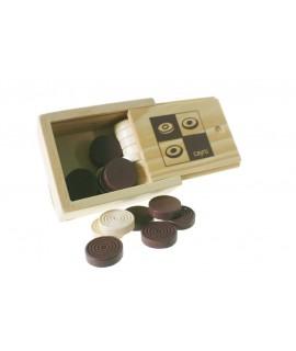 Accesorios damas madera juego tablero
