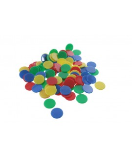 Parcheesi chips remplacement 4 couleurs.
