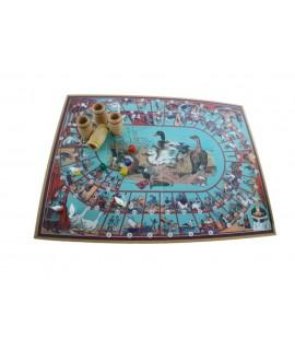 Joc de L'Oca vintage en caixa de cartró amb accessoris de fusta
