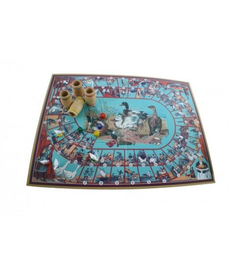 Juego de La Oca vintage en caja de cartón con accesorios de madera