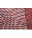 Bolso multiuso étnico hippie asas tejido algodón color granate