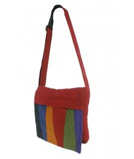 Sac hippie ethnique multicolore avec grenat de coton tissé