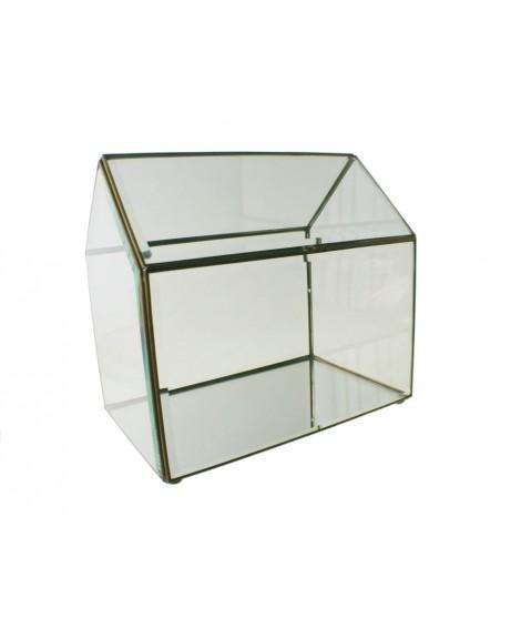 Urna de cristal  biselado grande.