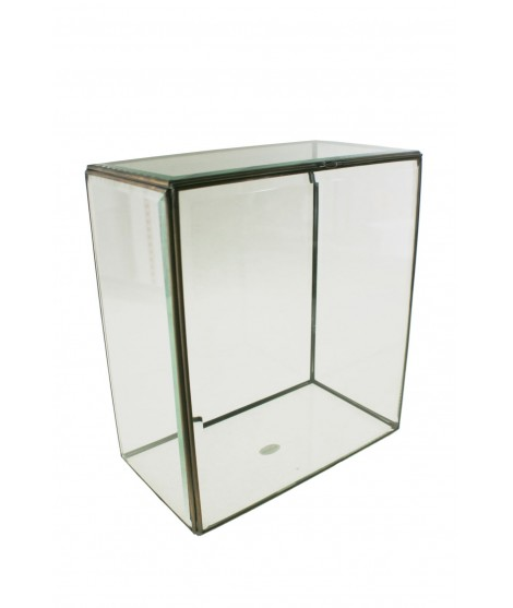 Caja de cristal con vidrio biselado