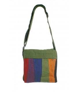 Bossa multiús petit ètnic hippie nanses teixit cotó color verd