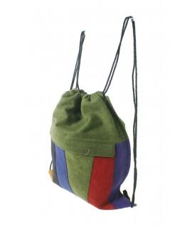 Sac hippie ethnique avec cordon de serrage sac à dos poche intérieure zippée