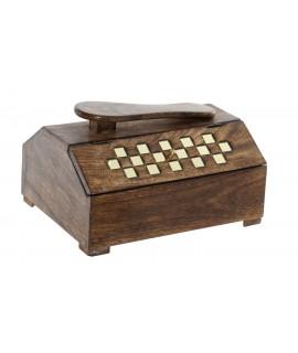 Caja de madera para limpia calzados