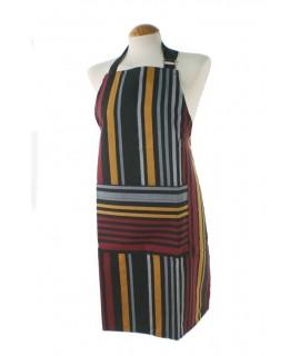 Delantal para cocina estilo clásico con diseño rayas color multicolor ideal para regalo mujer. Medidas: 80x70 cm.