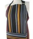 Delantal para cocina con peto estilo clásico diseño rayas multicolor