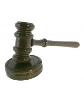 Martillo de Juez con base de madera