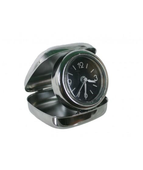 Reloj despertador plegable en caja metálica