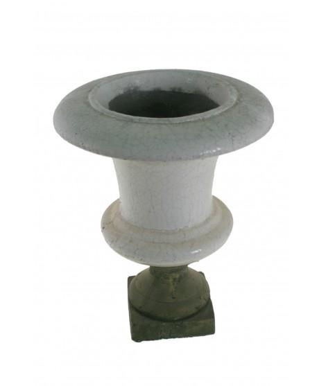 Coupe vase en terre cuite blanc