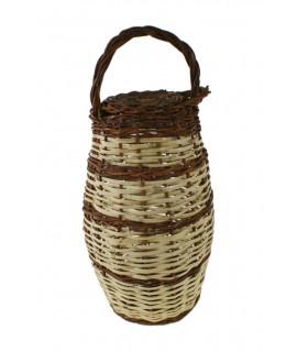 Caragolera artesanal de canya i vímet