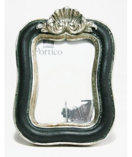 Petit cadre photo en résine noire de style vintage