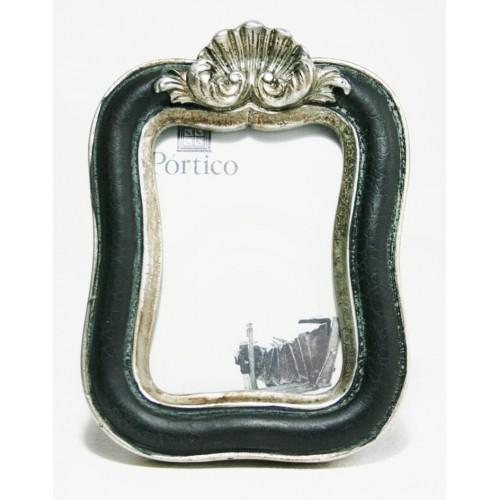 Marco para foto pequeña de resina color negro estilo vintage