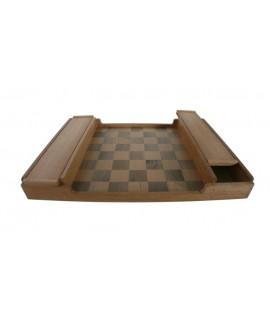 Tauler d'escacs de fusta massissa estil retro