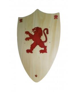 Escudo de madera con dibujos Leopoldo