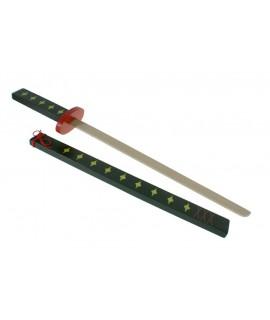 Katana japonesa de madera con funda