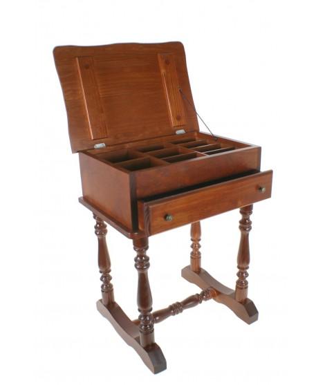 Costurero grande caja ordenacion de madera maciza con patas estilo rustico