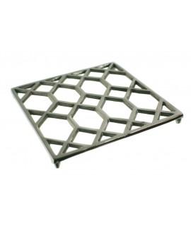 Salvamantel aluminio pulido para proteger la mesa menaje de cocina. Medidas: 18x18 cm.