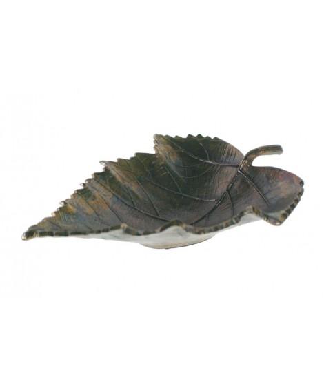 Cadeau idéal de décoration de forme de feuille de plateau d'épingle en aluminium