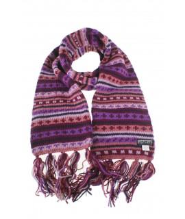 Bufanda de lana doble capa unisex multicolor lila para invierno regalo original