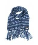 Bufanda de lana doble capa artesanal unisex de multicolor azul para el frio invierno regalo original. Medidas: 180x16 cm.