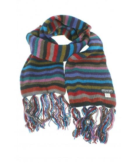 Bufanda de lana doble capa unisex multicolor azul para invierno regalo original
