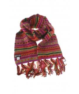Bufanda de lana doble capa unisex multicolor naranja para invierno regalo original