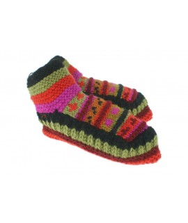 Chaussons en laine faits à la main pour une couleur orange unisexe pour dormir au chaud, doux et confortable pour un cadeau.