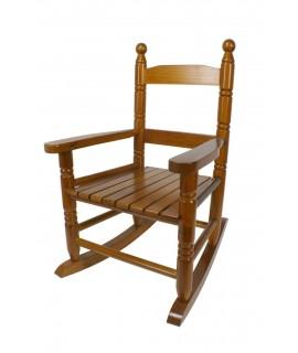 Mecedora infantil de madera -color Miel-