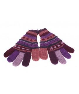 Gants en laine lilas doux et chauds pour hiver gants unisexes faits à la main cadeau de style hippie original adulte