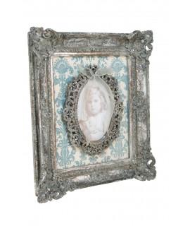 Cadre décoratif avec cadres photo de style romantique
