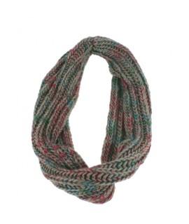Bufanda de cuello redondo de punto suave bufanda multicolor calentador de cuello para el invierno regalo original moda mujer