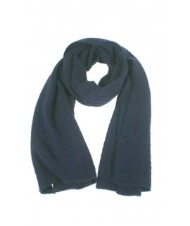 Bufanda acrílica de color azul marino estilo clásica unisex ideal para realizar regalo disfrutar del frio invierno bufanda para