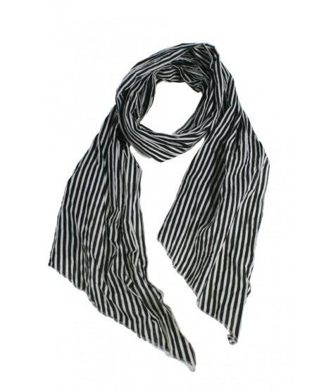 Bufanda foulard de cuello estilo básico a rayas color blanco negro complemento para tu look regalo original funcional moda mujer