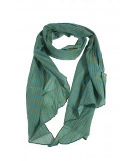 Foulard Foulard Col à rayures De Style de base Couleur Vert Bleu Complément pour votre look Cadeau Original Feuille de mode fonc