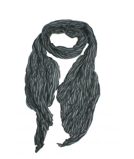 Bufanda foulard de cuello estilo básico a rayas color negro gris complemento para tu look regalo original funcional moda mujer