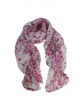 Bufanda foulard estil bàsic estampat flors color rosa complement per a la teva look regal original funcional moda dona