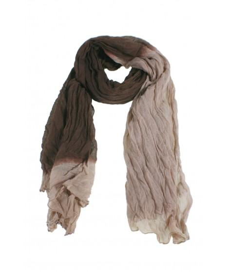 Bufanda foulard estilo básico color marrón y beige degradado complemento para tu look regalo original funcional moda mujer