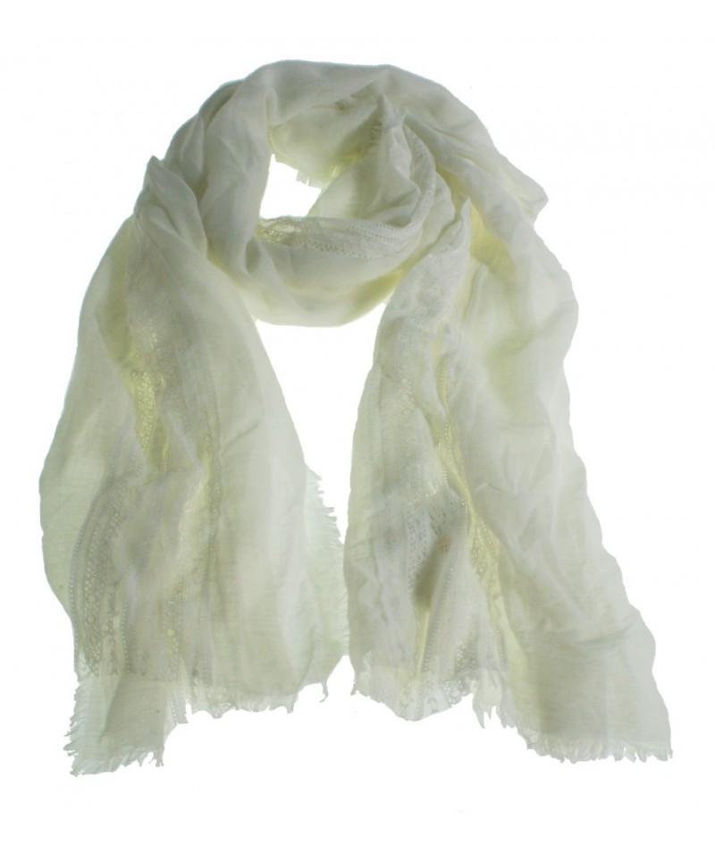 Bufanda foulard estilo básico color blanco complemento para tu look regalo original funcional moda mujer