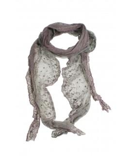 Bufanda foulard estilo de blonda y encaje color lila complemento para tu look regalo original funcional moda mujer